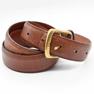 """Coach Belt Brown with Solid Brass Buckle 40""""/100cm"""